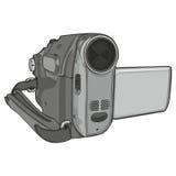Geïsoleerde videonok op witte achtergrond Stock Afbeeldingen