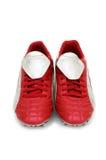 Geïsoleerde voetbalschoenen Stock Afbeeldingen