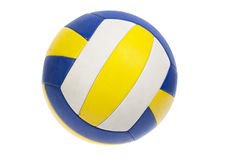 Geïsoleerde volleyballbal, Stock Fotografie