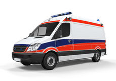 Geïsoleerde ziekenwagen Stock Foto's