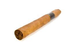 Geïsoleerdeàde macro van de sigaar Royalty-vrije Stock Foto's