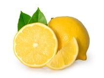 Geïsoleerdee citroen Stock Afbeelding