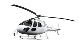Geïsoleerdee helikopter Stock Foto's