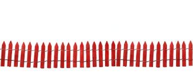 Geïsoleerdee rode omheining Stock Foto
