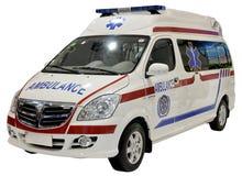 Geïsoleerdeg de bestelwagen van de ziekenwagen Stock Foto