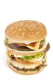 Geïsoleerdeg REUSACHTIGE hamburger Stock Fotografie