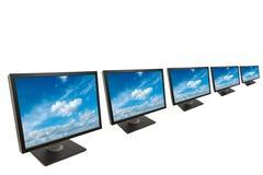 Geïsoleerdei de monitor van de computer Stock Afbeeldingen
