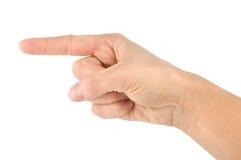 Geïsoleerdei vinger Stock Foto's