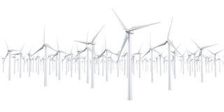 Geïsoleerdei windturbines Stock Fotografie
