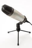 Geïsoleerdem microfoon Stock Fotografie