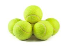 Geïsoleerden de ballen van het tennis Royalty-vrije Stock Afbeelding
