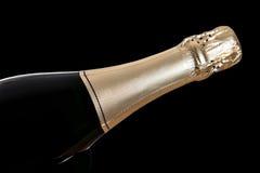 Geïsoleerden de fles van Champagne Stock Foto