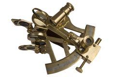 Geïsoleerden sextant Stock Afbeelding
