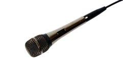 Geïsoleerdep microfoon Stock Foto