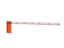 geïsoleerder sinaasappel geautomatiseerde weg meer barier kruising Stock Fotografie