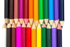 Geïsoleerdeu de potloden van de kleur Stock Foto's