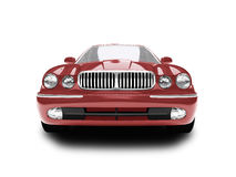 Geïsoleerdi rood auto vooraanzicht Royalty-vrije Stock Foto
