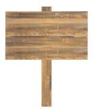 Geïsoleerdn houten teken Royalty-vrije Stock Afbeeldingen