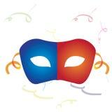Geïsoleerds Carnaval masker Stock Foto