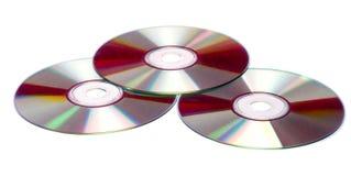 Geïsoleerdt CDs Royalty-vrije Stock Fotografie