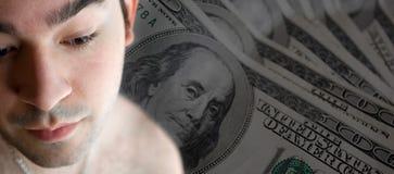 Gesorgt um die Rechnungen Lizenzfreies Stockbild