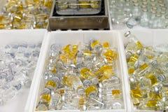 Gesorteerde flessen Stock Fotografie