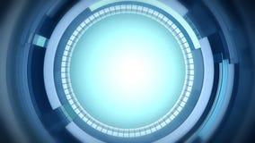 Gesorteerde Krommen Roterende purpere cirkels royalty-vrije illustratie
