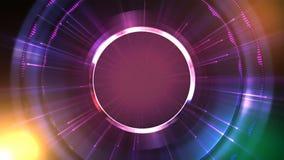 Gesorteerde Krommen Roterende purpere cirkels stock illustratie
