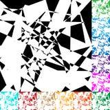 Gespannen geometrisch vectortextuur/patroon in kleur 12 Royalty-vrije Stock Fotografie