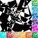 Gespannen geometrisch vectortextuur/patroon in kleur 12 Royalty-vrije Stock Afbeeldingen