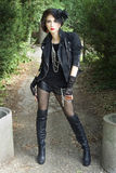 Gespannen gotisch meisje Royalty-vrije Stock Fotografie