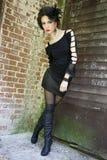 Gespannen gotisch meisje Royalty-vrije Stock Afbeeldingen