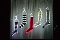 Gespannen Kerstmis 2014 Stock Foto's
