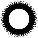 Gespannen zwart-wit cirkelelement Zwart-wit hoekig motief, Stock Fotografie