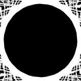 Gespannen zwart-wit cirkelelement Zwart-wit hoekig motief, Stock Foto