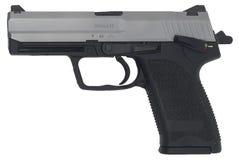 Gespannte und verschlossene Pistole Lizenzfreies Stockfoto