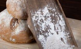 Gespeld eigengemaakt brood royalty-vrije stock foto