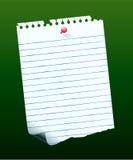 Gespelde het Document van de nota Royalty-vrije Illustratie