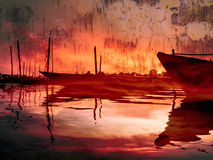 Gespenstische Boote Stockbilder