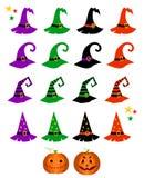 Gespenstische Elemente der netten Karikatur für Halloween stock abbildung