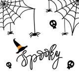 Gespenstische Halloween-Karte Lizenzfreie Stockfotografie