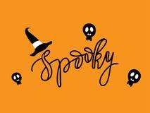 Gespenstische Halloween-Karte Stockbilder