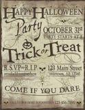 Gespenstische Halloween-Parteieinladung Lizenzfreies Stockbild