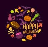 Gespenstische Halloween-Symbole vektor abbildung
