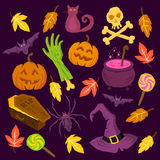 Gespenstische Halloween-Symbole Lizenzfreie Stockfotografie