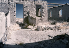 Gespenstische Ruinen, Fort Churchill, Nevada Lizenzfreie Stockbilder