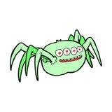 gespenstische Spinne der komischen Karikatur Stockbild