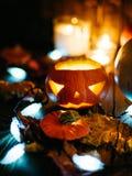 Gespenstische Steckfassung-Olaterne Halloweens Lizenzfreie Stockfotografie