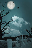 Gespenstischer Friedhof Stockfotografie