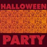 Gespenstischer Halloween-Partyhintergrund Stockbilder
